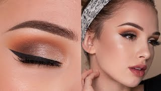 Affordable Drugstore Makeup Tutorial | Warm Orange Toned Smokey Eye