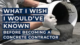 Trinic Tips, Episode 1: What I Wish I Would Have Known Before Becoming A Concrete Contractor