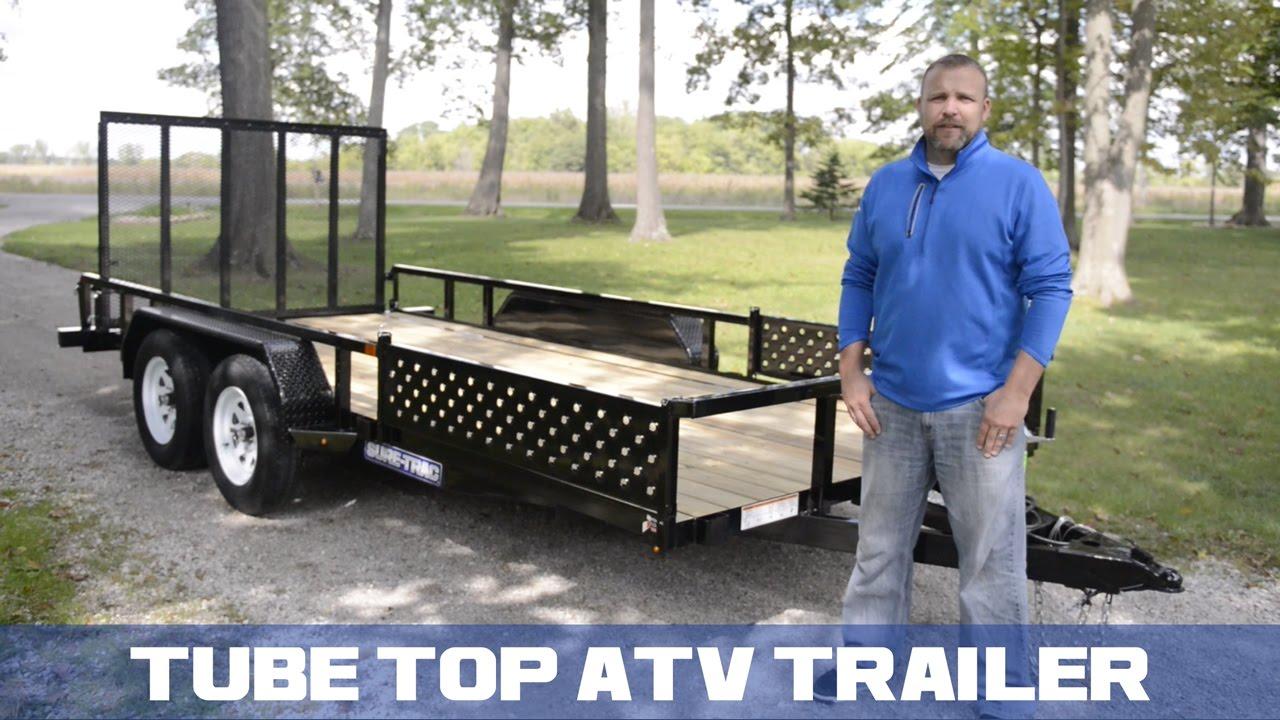 Sure Trac Tube Top Atv Trailer Overview Youtube