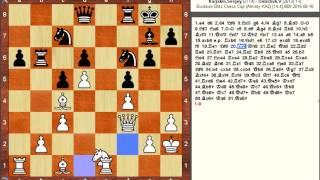 Chess Game: Sergey Karjakin (RUS) vs Vladimir Onischuk (UKR)
