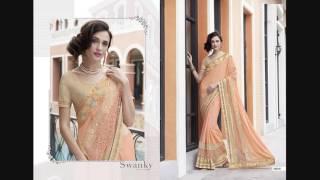 Buy Satin Chiffon Saree 19 Pcs Catalog at Wholesale Price