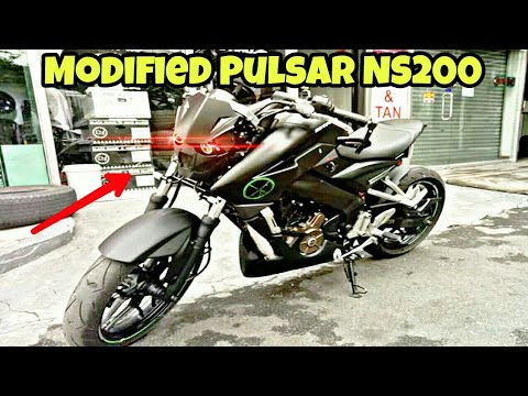 modified pulsar ns200 into street fighter by tldf motomotive youtube