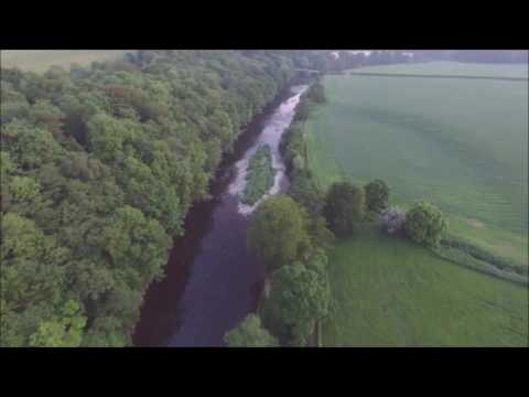 Enterkine Viaduct and the River Ayr, Ayrshire, Scotland - Views from the Air