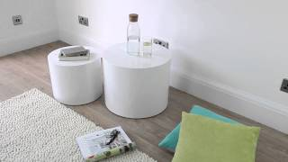 White Gloss Side Tables