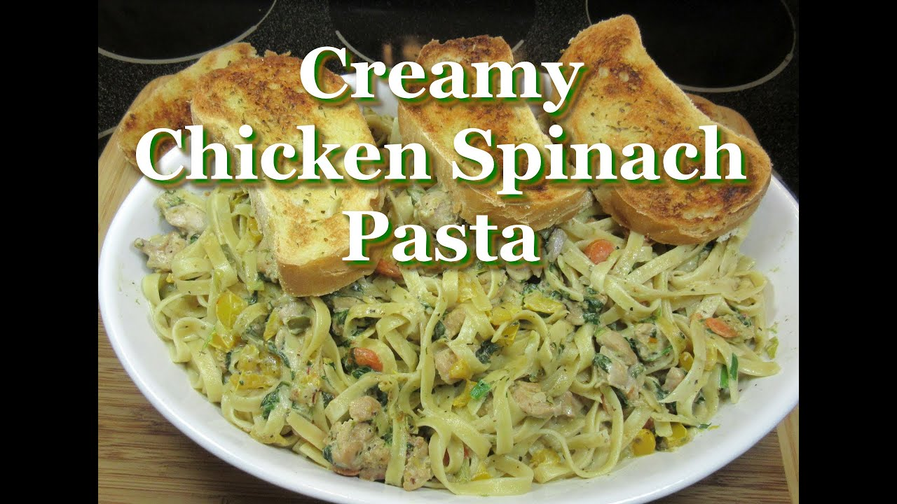 Easy italian creamy chicken spinach pasta easy chicken recipe easy italian creamy chicken spinach pasta easy chicken recipe youtube forumfinder