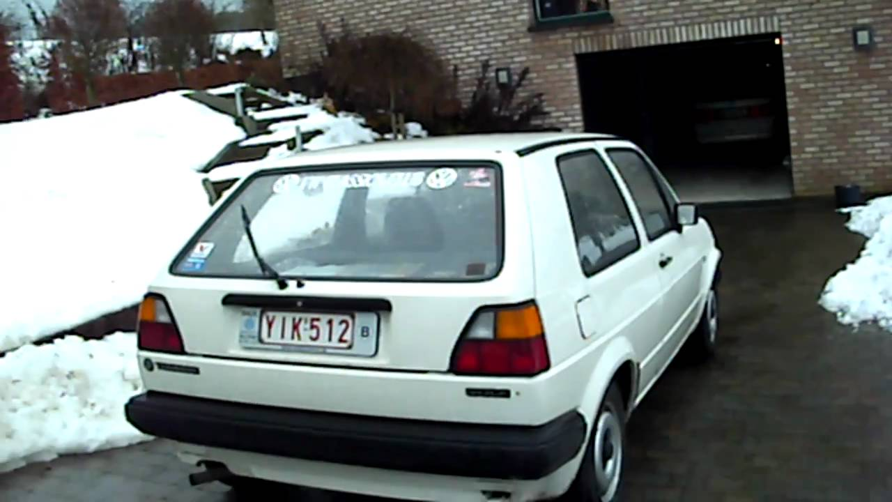 vw golf c 1985 1600 diesel youtube. Black Bedroom Furniture Sets. Home Design Ideas