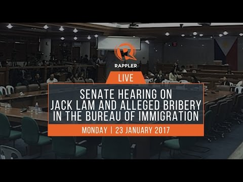 LIVE: Senate hearing on Jack Lam and alleged bribery in the Bureau of Immigration