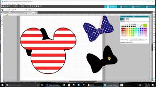 Tutorial Make Mickey Mouse into Minnie Mouse American Flag part1