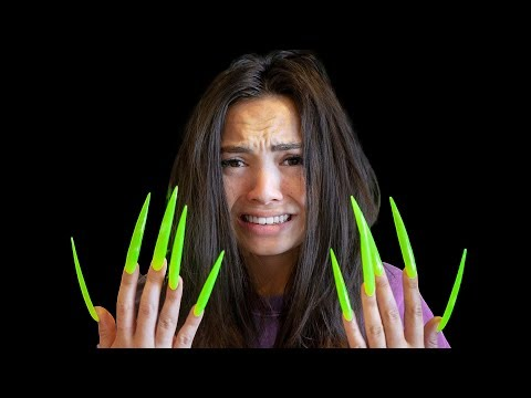 Surviving 5-Inch Acrylic Nails For 24 Hours