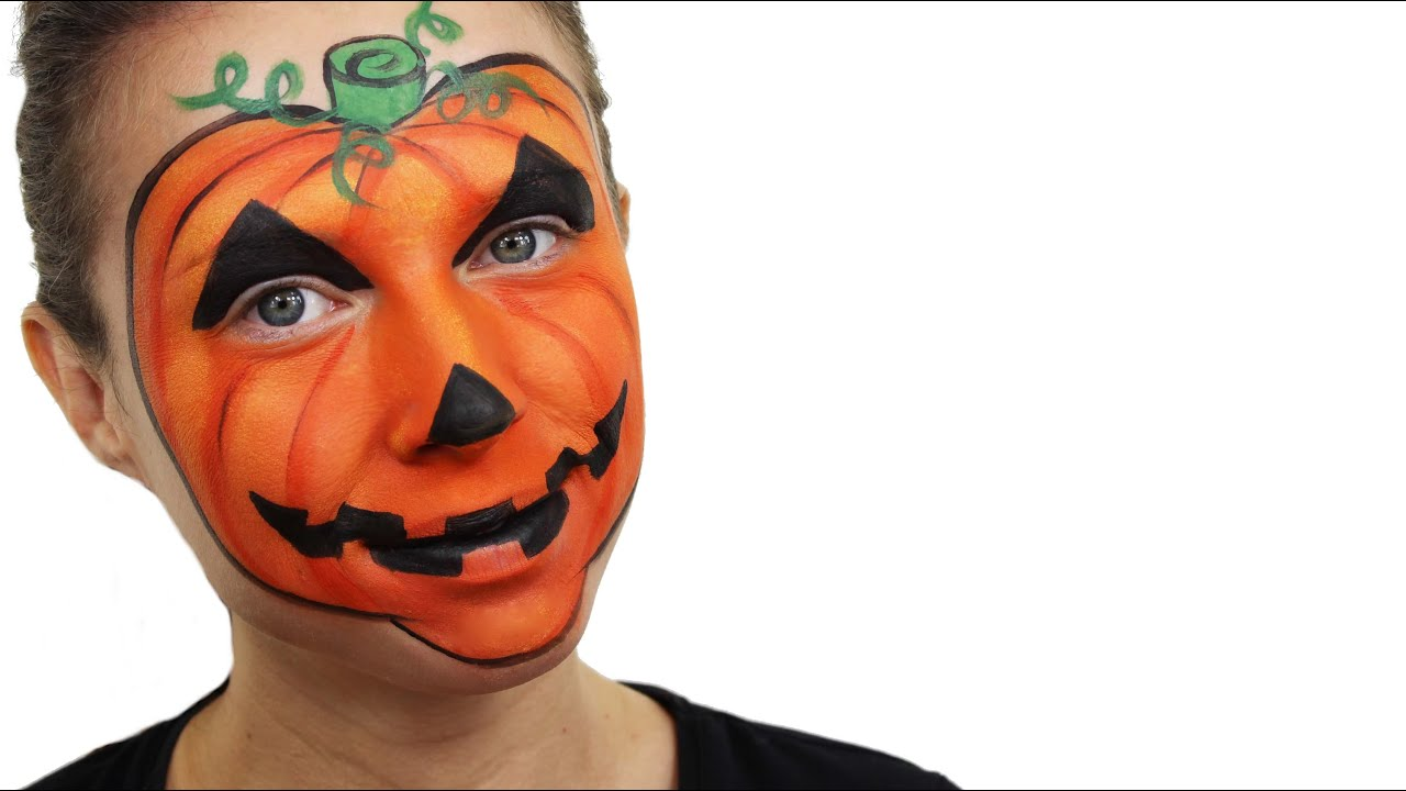 Halloween Pumpkin Face Paint Tutorial | Snazaroo - YouTube