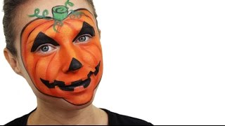 Halloween Pumpkin Face Paint Tutorial | Snazaroo
