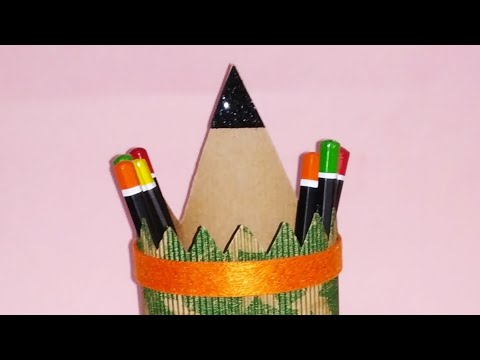 Diy how to make easy pencil holder