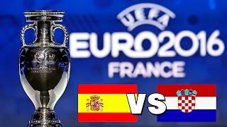 UEFA EM 2016: Spanien vs. Kroatien