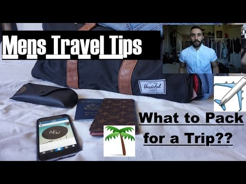 Men's  fashion travel essentials | what to pack for a trip? |