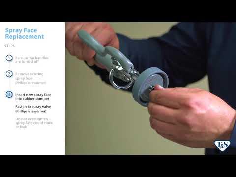 How To Replace A Pre-rinse Unit Spray Valve Spray Face