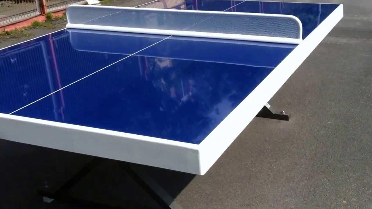 Mesas ping pong exterior youtube for Mesa de ping pong exterior