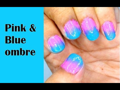 How to do ombre nail art design using makeup sponge youtube how to do ombre nail art design using makeup sponge prinsesfo Images