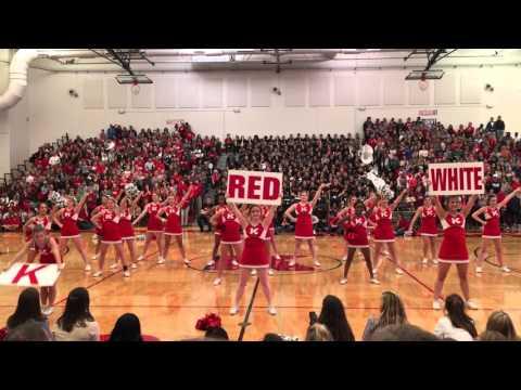 Turkey Day Cheerleading Pep Rally Performance 2015