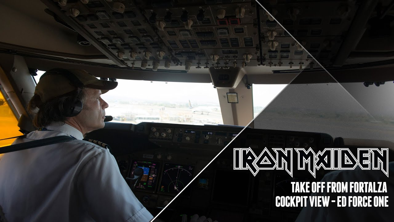 iron maiden - ed force one take off from fortaleza - youtube