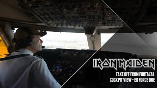 Iron Maiden - Ed Force One take off from Fortaleza