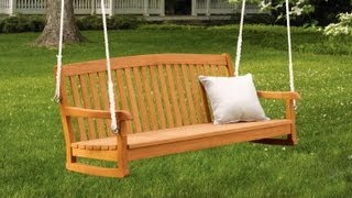 Качели садовые(Видео-блог о дизайне, архитектуре и стиле. Идеи для тех кто обустраивает свой дом, квартиру, дачу, садовый..., 2013-09-07T21:11:48.000Z)