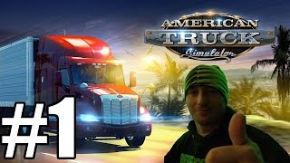 American Truck Simulator Gameplay #1 - Our First Delivery (PC)