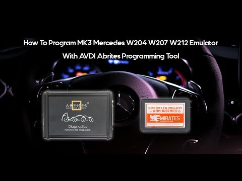 How To Program MK3 Mercedes W204 W207 W212 Emulator With ABRITES