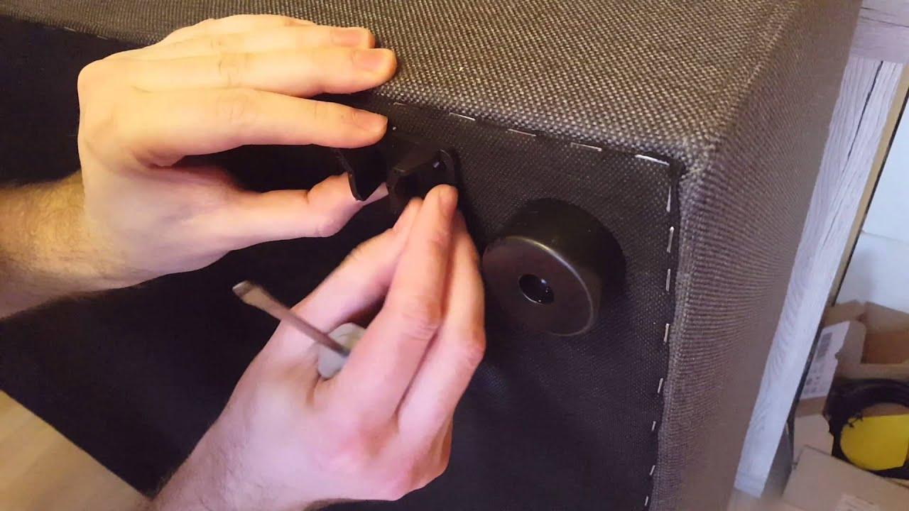 Boxspringbett aufbauanleitung  Boxspringbett Bea Möbelfreude 220x220cm Aufbauanleitung - YouTube
