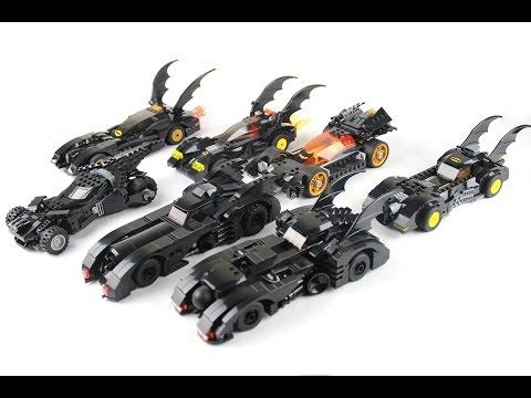 Lego Batmobile Collection Showcase / Highlight