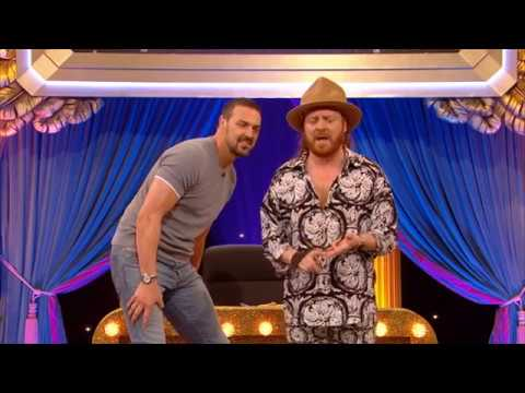 Paddy McGuinness takes a tumble on roller skates