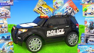 Download Video Police Cars: Ride on Toy Vehicles w/ Lego Construction Toys, Trucks & Car Surprise for Kids MP3 3GP MP4