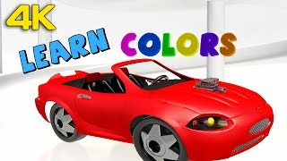 4K | 3D Learn Colors with Car for Toddlers | Popular Rhymes and Kids Songs from Peppy Tots