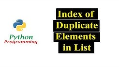 Python Program To Print Every Index of Duplicate Elements in List