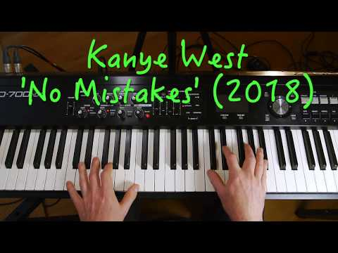 Chords for Kanye West - 'No Mistakes' piano riff