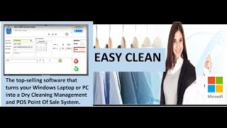 Easy clean v3 .1 dry cleaning pos software for windows pcs, laptops and tablets