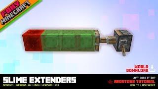 Redstone Slime Extenders | Tutorial | Minecraft Bedrock Edition (MCBE / MCPE)