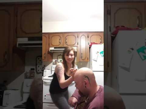 Idiot waxes his head