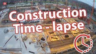 Time lapse gradilišta, Američka Međunarodna škola u Zagrebu, pogled s dizalice