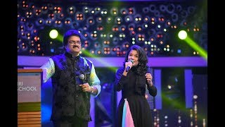 "M.G. Sreekumar & Sreya Jayadeep singing ""Minungum Minnaminuge..."" on Dev Sparsh - Annual Day 2019"
