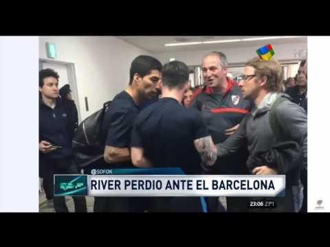 Escándalo: Hinchas de River escupieron a Messi