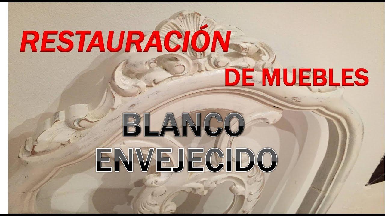 Restauración de Mueble en Blanco Envejecido.Silla Blanca. - YouTube