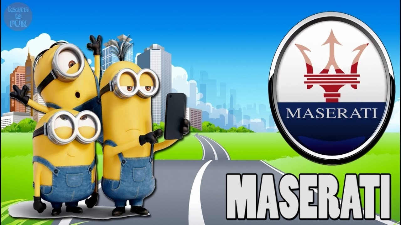 Learn English For Kids 24 Car Brands Logos Cars Minions Planes