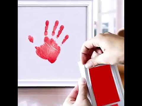 Inkless Handprint And Footprint Paper Kit For Kids Memory Kit