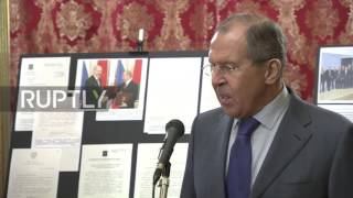 Russia  Russia and Belarus FMs attend 25th anniversary of diplomatic relations exhibit