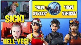 STREAMERS Gets *NEW* Styles For Renegade Raider, Elite Agent & Uses The Baller! (Fortnite Moments)