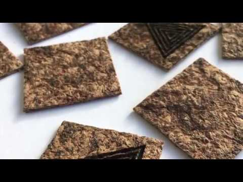 DIY BIOPLASTIC - BIO CC (chestnuts shells and coffee grounds)