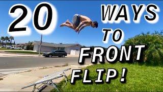 20 WAYS TO FRONT FLIP!