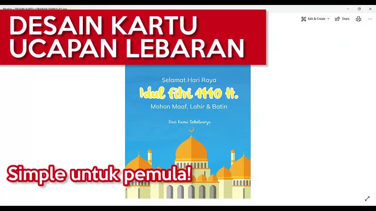 Tutorial Desain Kartu Ucapan Idul Fitri/Lebaran dengan ...