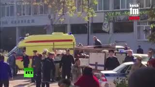 Видео с места происшествия: взрыв в Керченском политехническом колледже