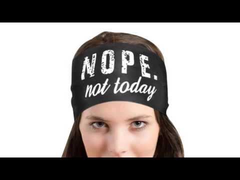 2017 Summer Nope Not Today Letter Printing Women Headband Sporting Sweatband Stretch Hair Band women